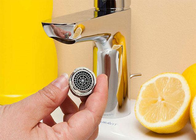 تمیز کردن شیرآلات با لیمو
